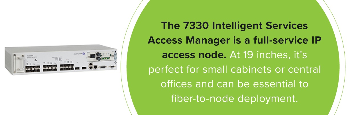 The Alcatel-Lucent 7330 Intelligent Services Access Manager