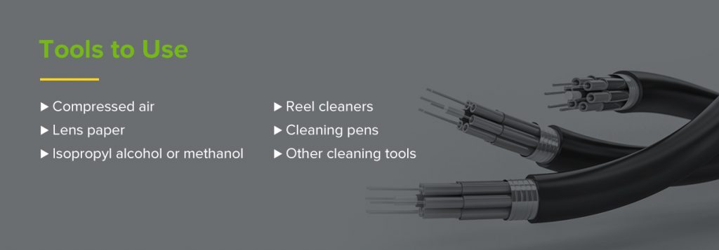 Tools to use for fiber optics cleaning